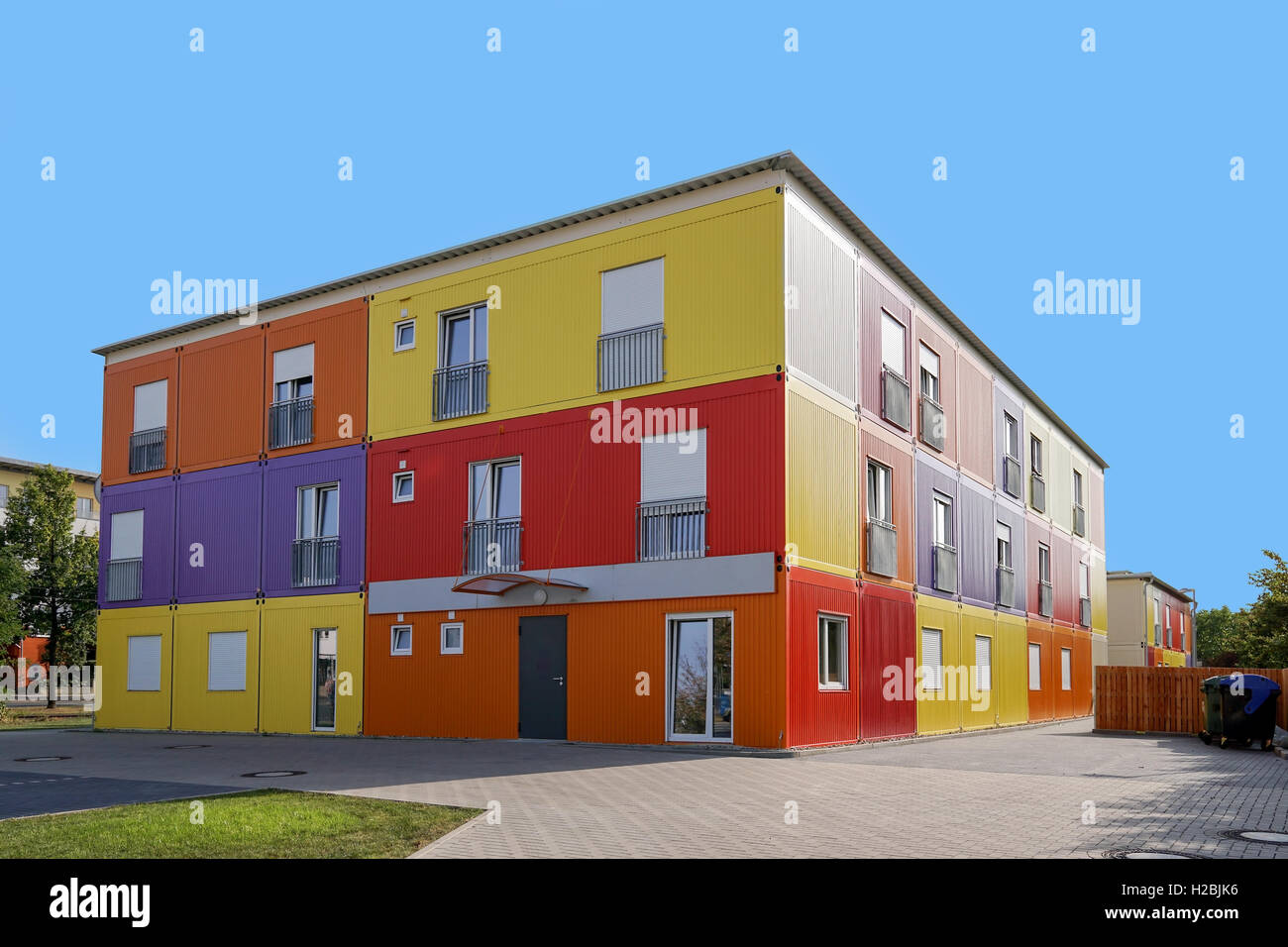 refugee hostel or accommodation - Stock Image