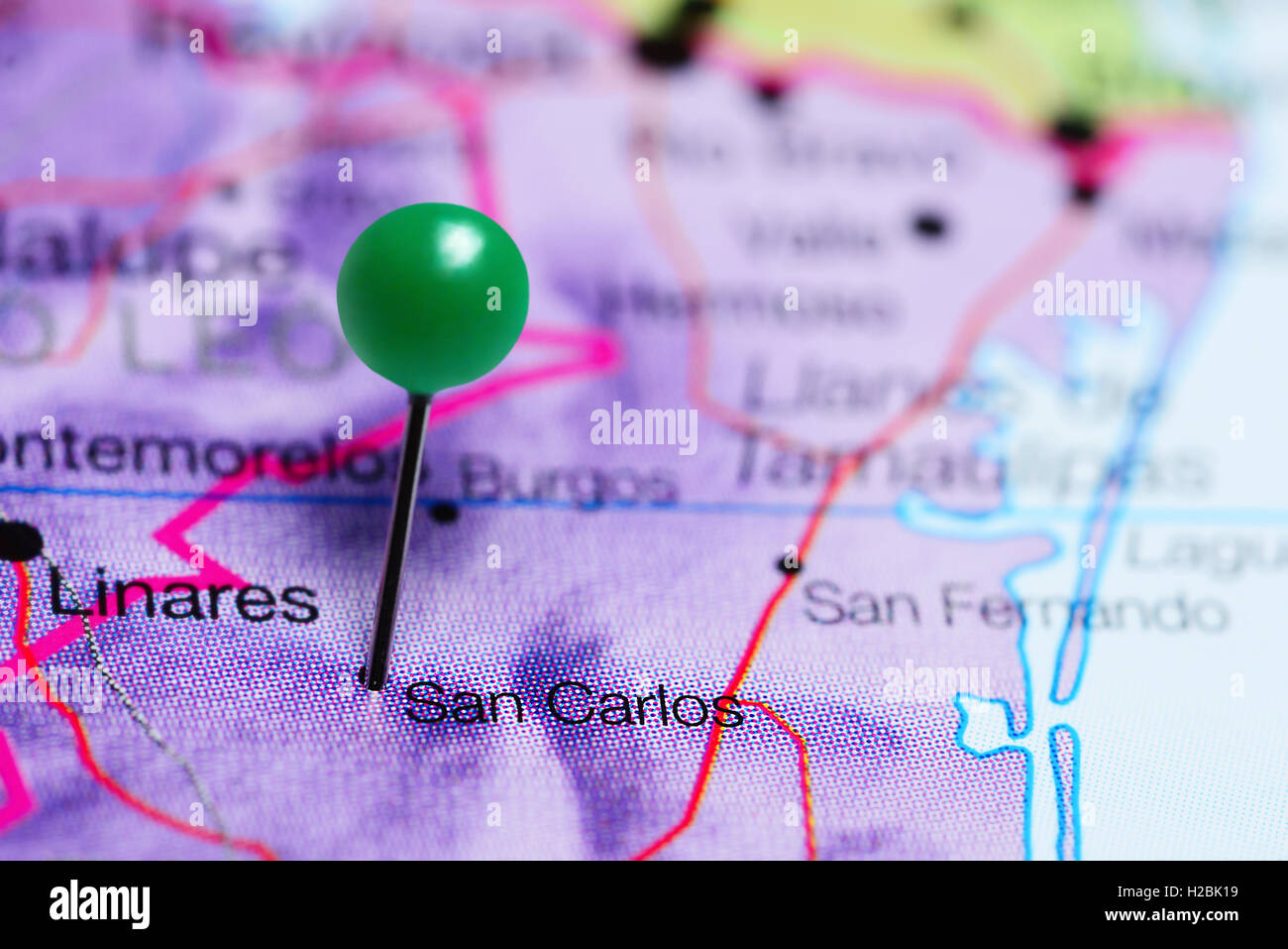 San Carlos pinned on a map of Mexico Stock Photo: 121958293 - Alamy