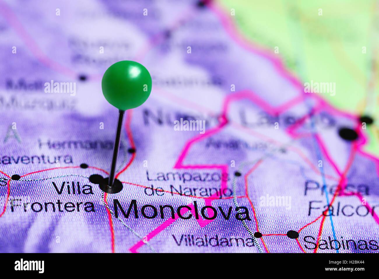 Monclova Mexico Map.Monclova Pinned On A Map Of Mexico Stock Photo 121958372 Alamy