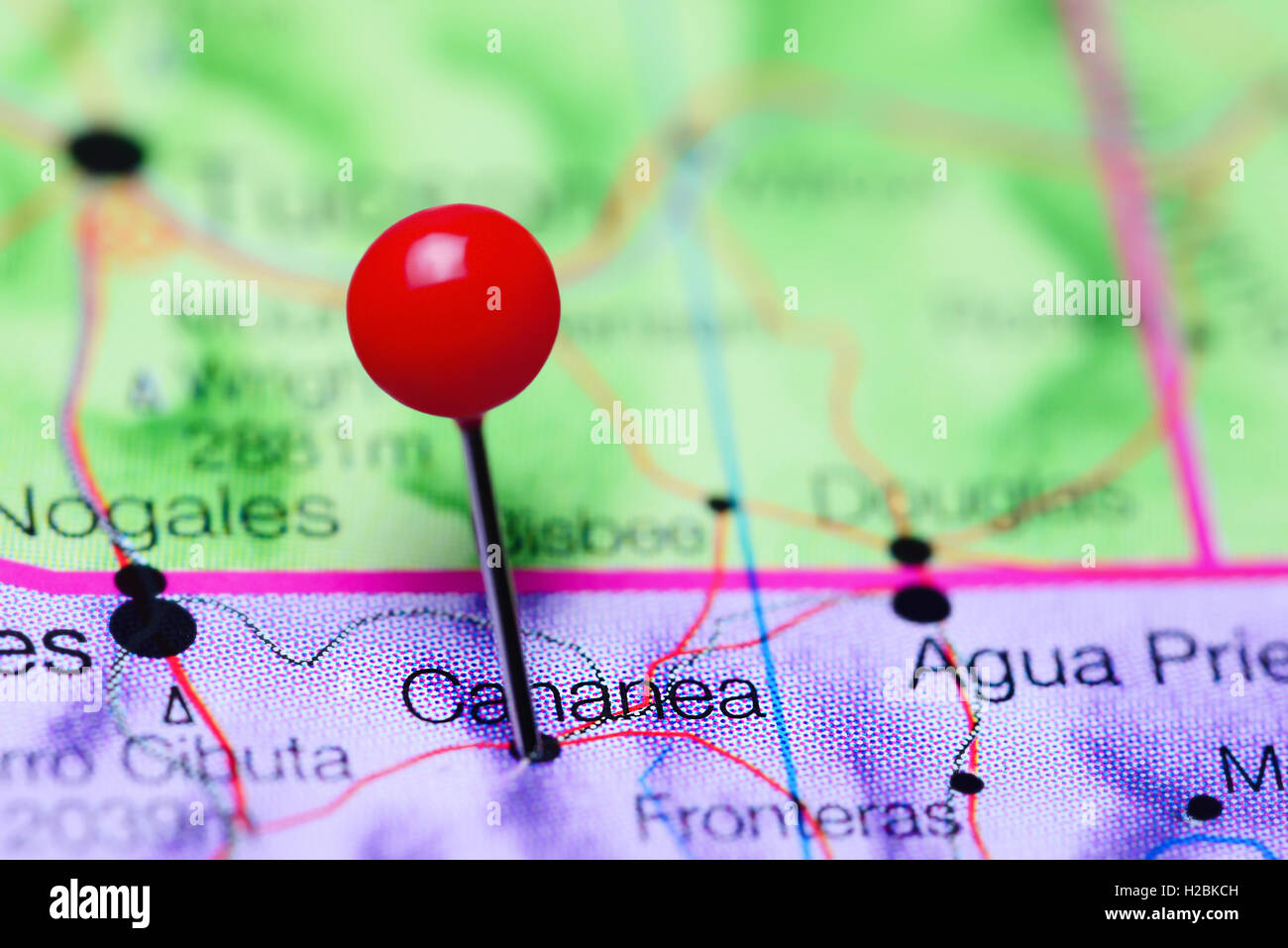 Cananea Mexico Map.Cananea Pinned On A Map Of Mexico Stock Photo 121958609 Alamy
