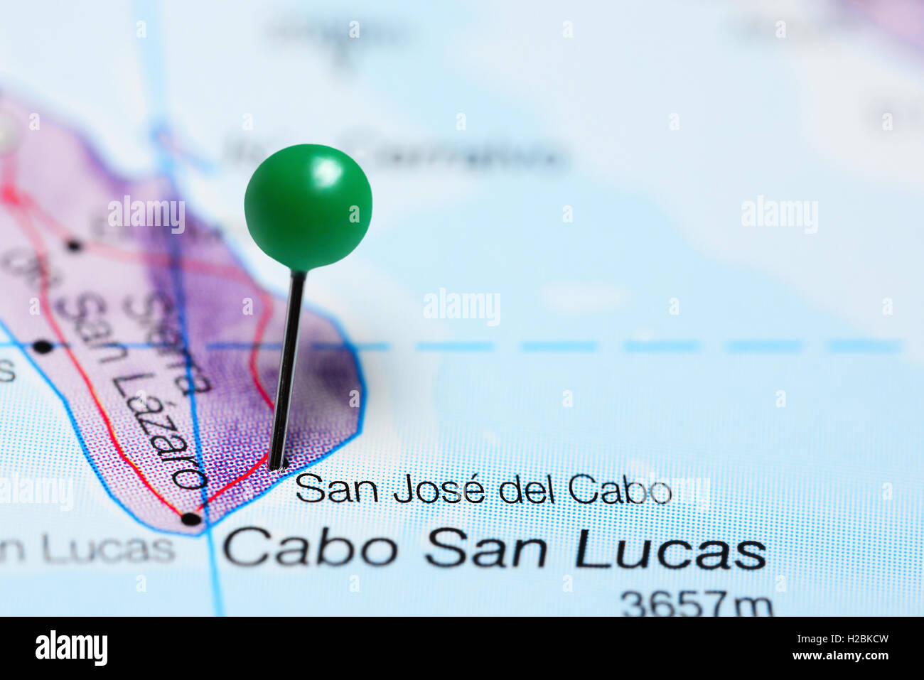 San Jose Del Cabo Mexico Map.San Jose Del Cabo Pinned On A Map Of Mexico Stock Photo 121958617