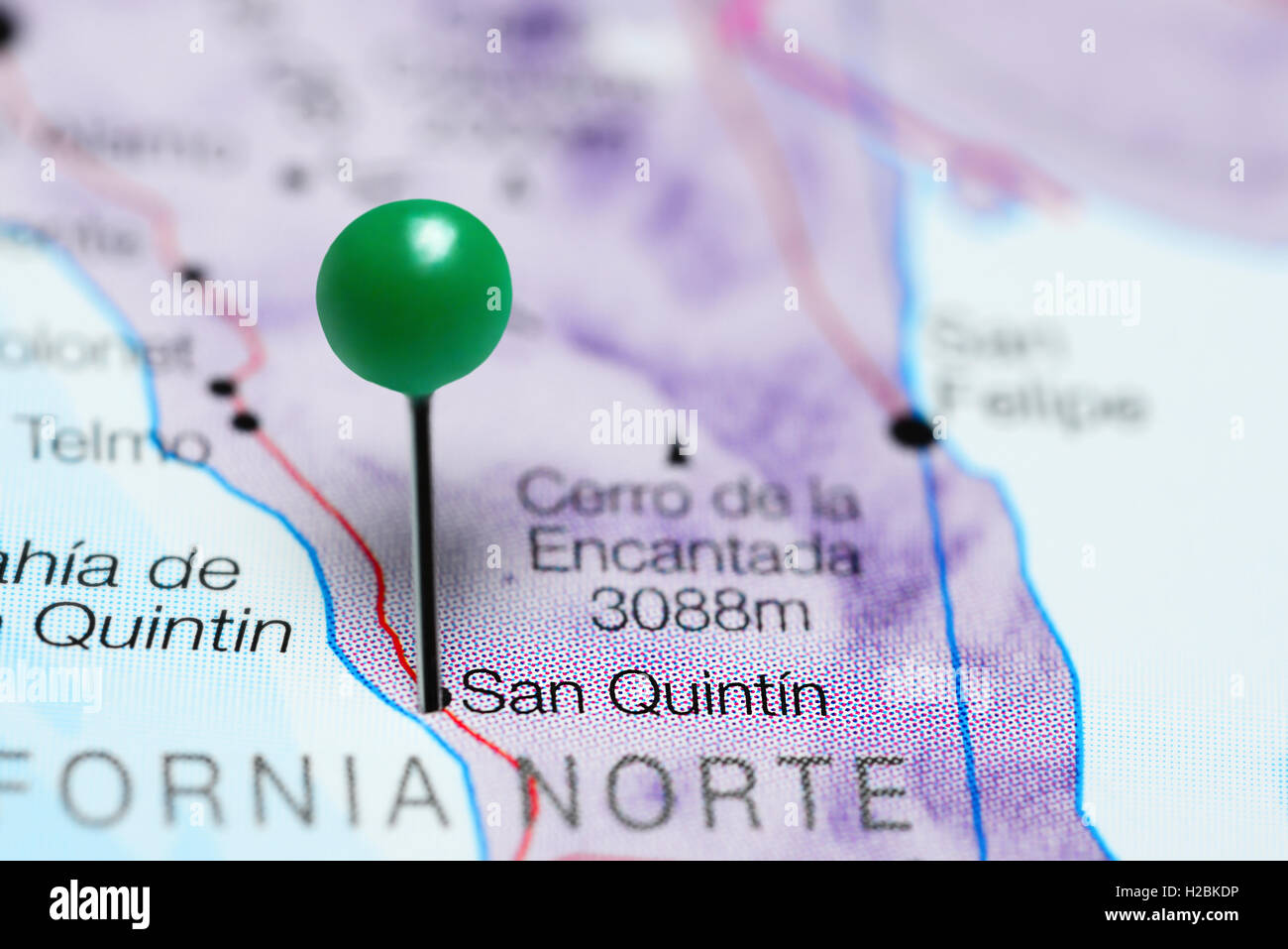 San Quintin Pinned On A Map Of Mexico Stock Photo 121958642 Alamy
