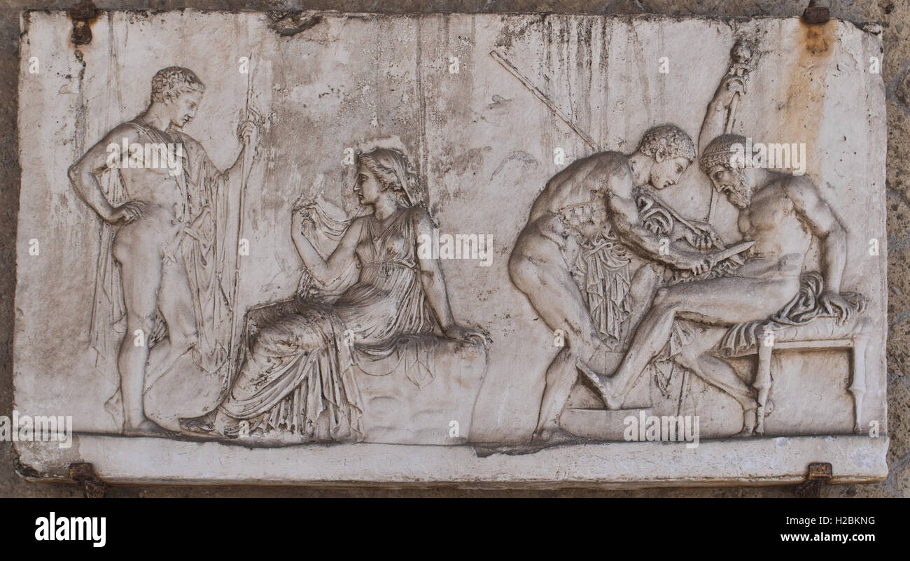 The Relief of Telephus from Herculaneum - Stock Image