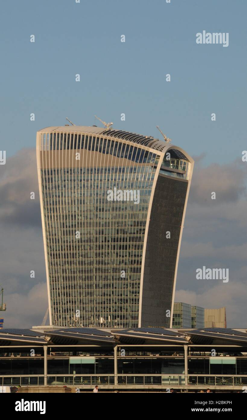 The Walkie-Talkie building in London's Square Mile - Stock Image