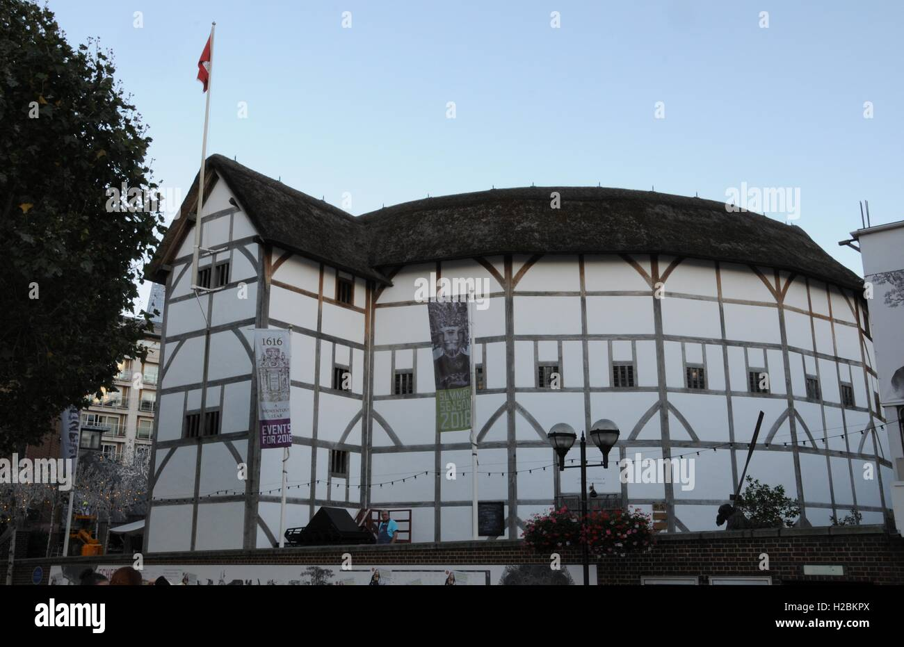 The Globe Theatre, Bankside, London. - Stock Image