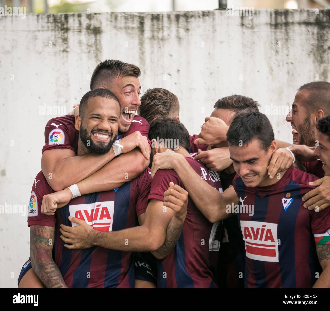 25 Bebé Goal. Match day 6 game of la Liga Santander 2016-2017 season between Sd Eibar and Real Sociedad played - Stock Image