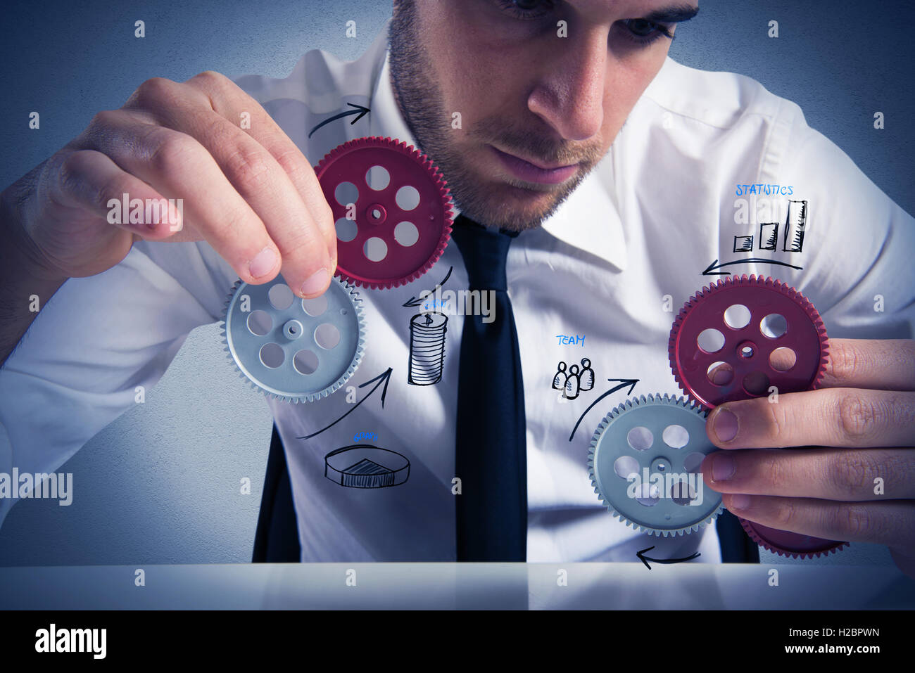 Build a business system - Stock Image