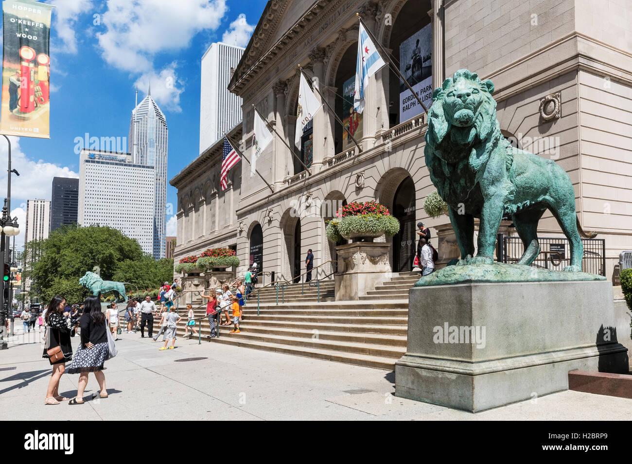 Art Institute of Chicago, Illinois - Stock Image