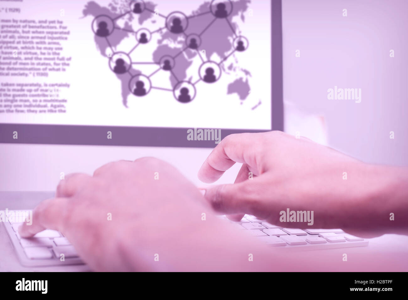 Hacker hacking highly secure system. Computer crime concept - Stock Image