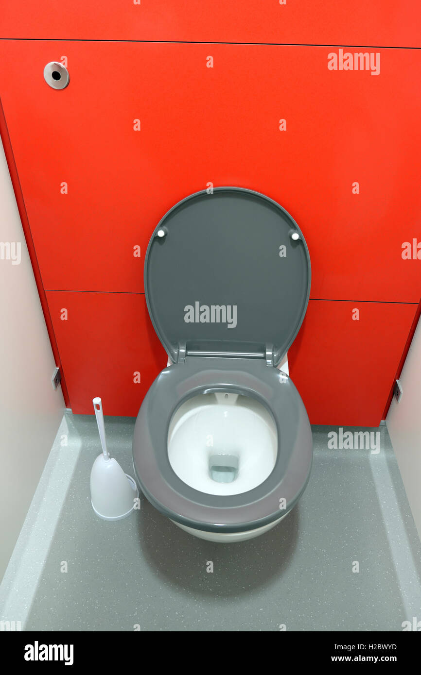 Toilet cubicle at Guys Hospital Cancer Centre in Southwark, South London, England, UK  KATHY DEWITT - Stock Image