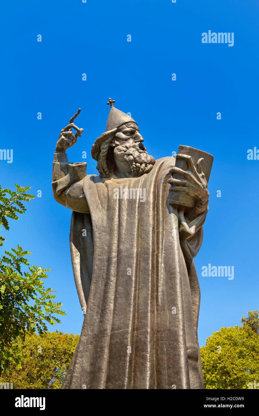 Statue of bishop Gregory of Nin, in the Giardin Park, Split, Croatia - Stock Image