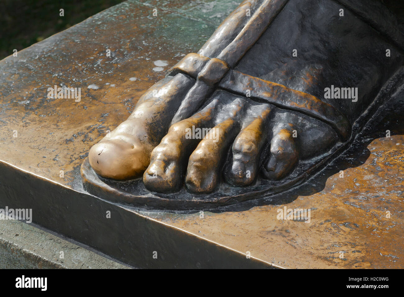 Statue of bishop Gregory of Nin, in the Giardin Park, rubbing the big toe is said to give good luck! - Stock Image