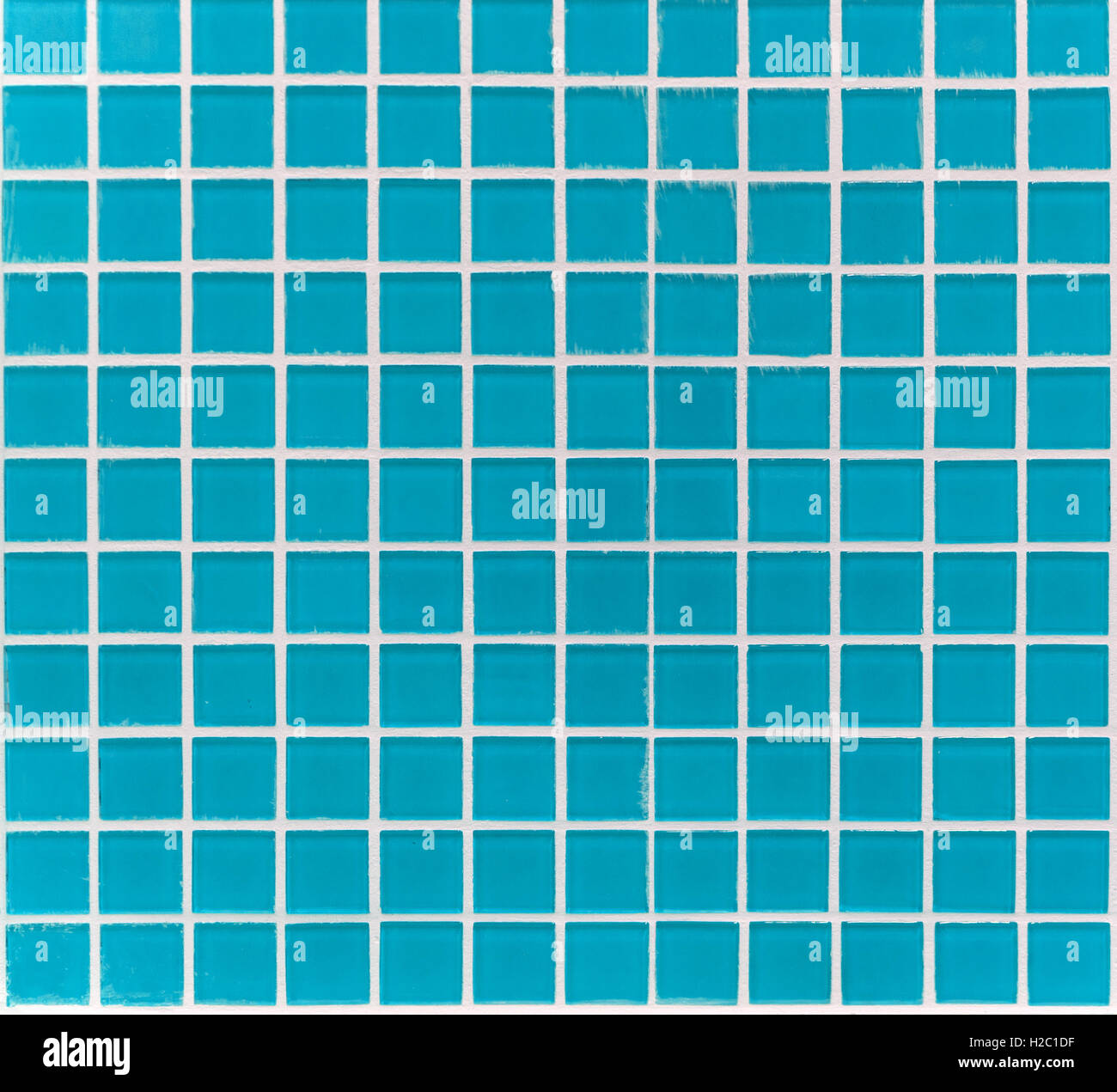 mosaic of small square glass tiles blue color Stock Photo: 121966475 ...