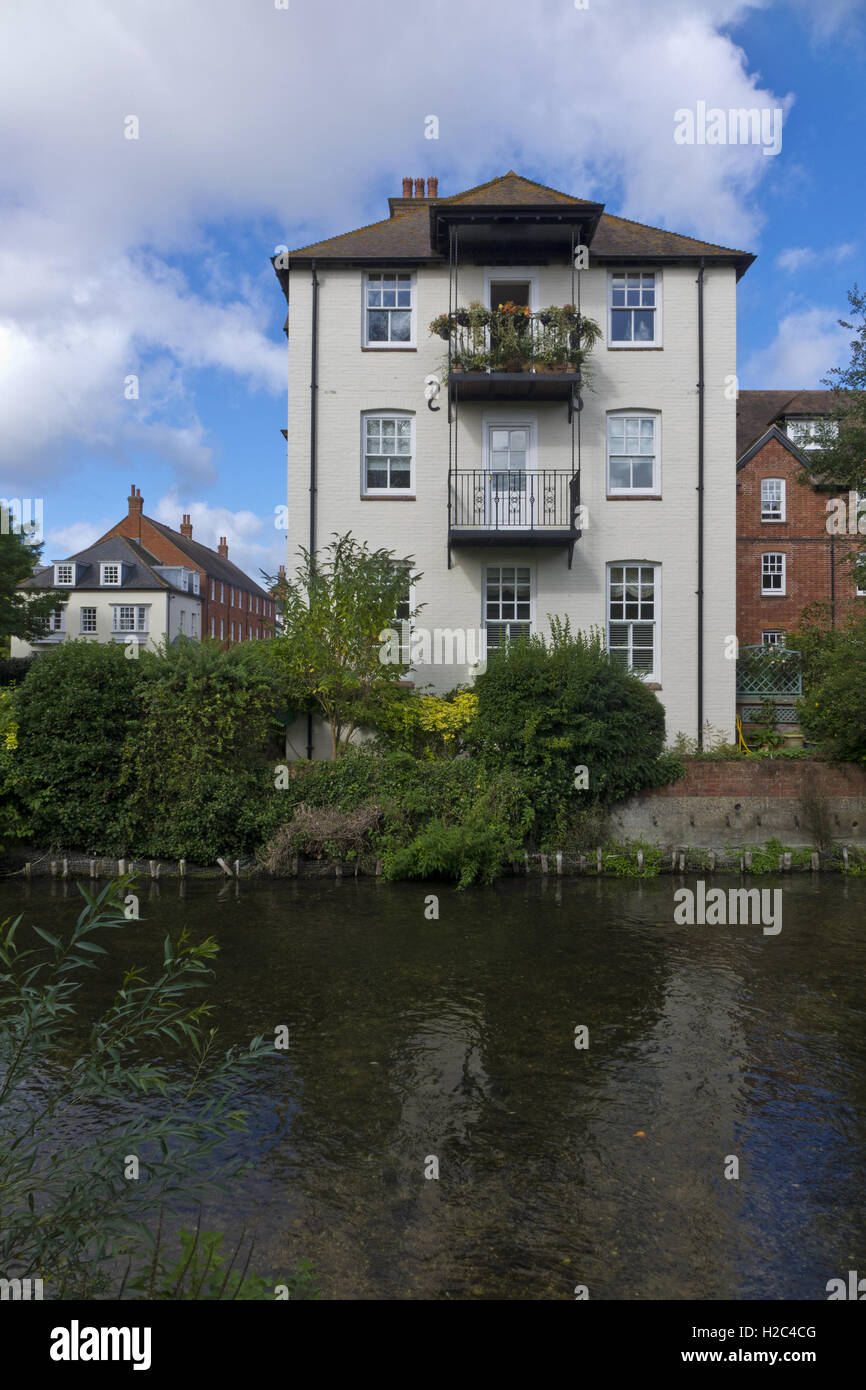 House overlooking the river Avaon - Stock Image