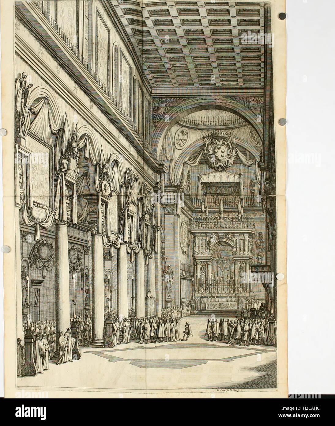Esequie del serenissimo Ferdinando II, gran duca di Toscana celebrate in Firenze dal serenissimo gran duca Cosimo Stock Photo