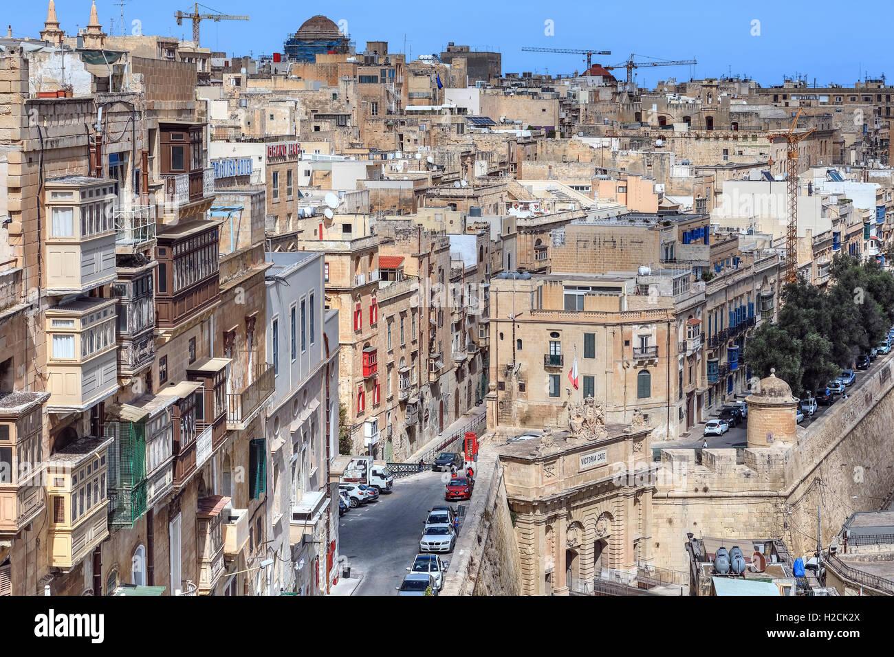 Valletta, Victoria Gate, Malta - Stock Image