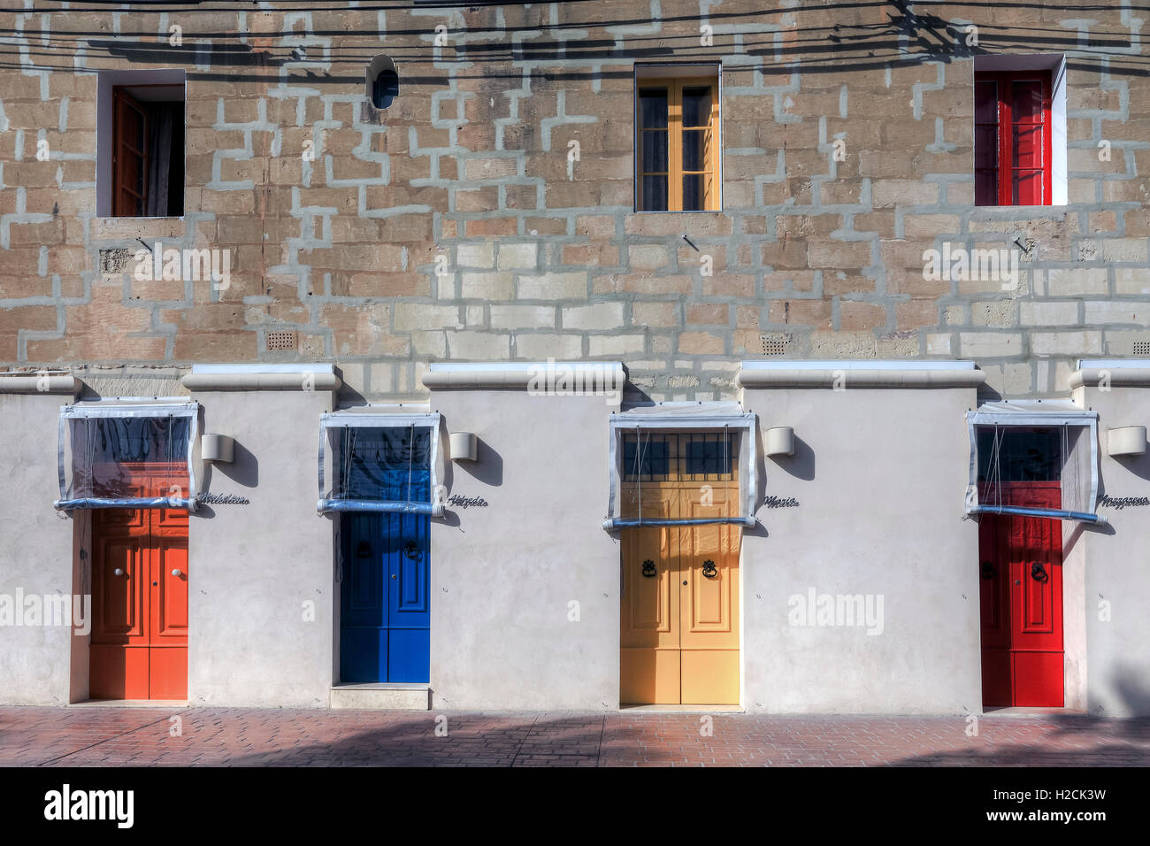 Marsaxlokk, fishing village, Malta - Stock Image