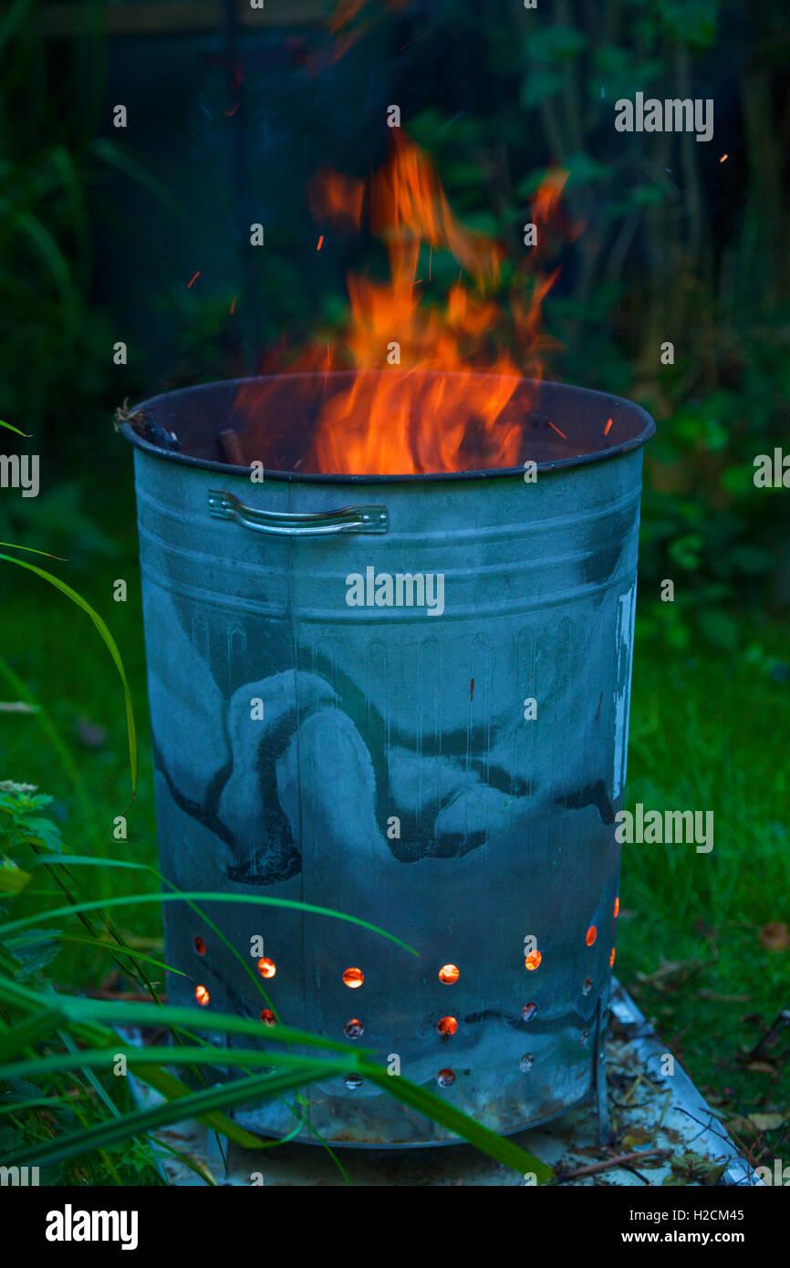 Burning Garden Waste - Stock Image