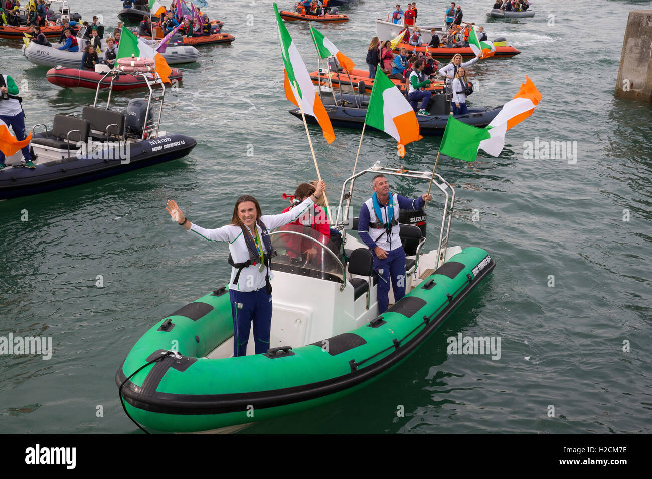 annalise murphy olympic silver medalist sailing - Stock Image