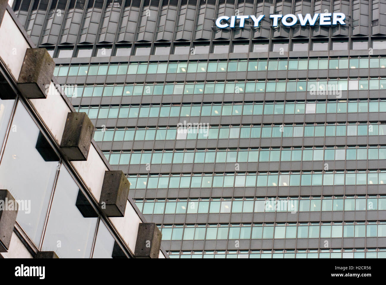 City Tower, Piccadilly Gardens Manchester - Stock Image