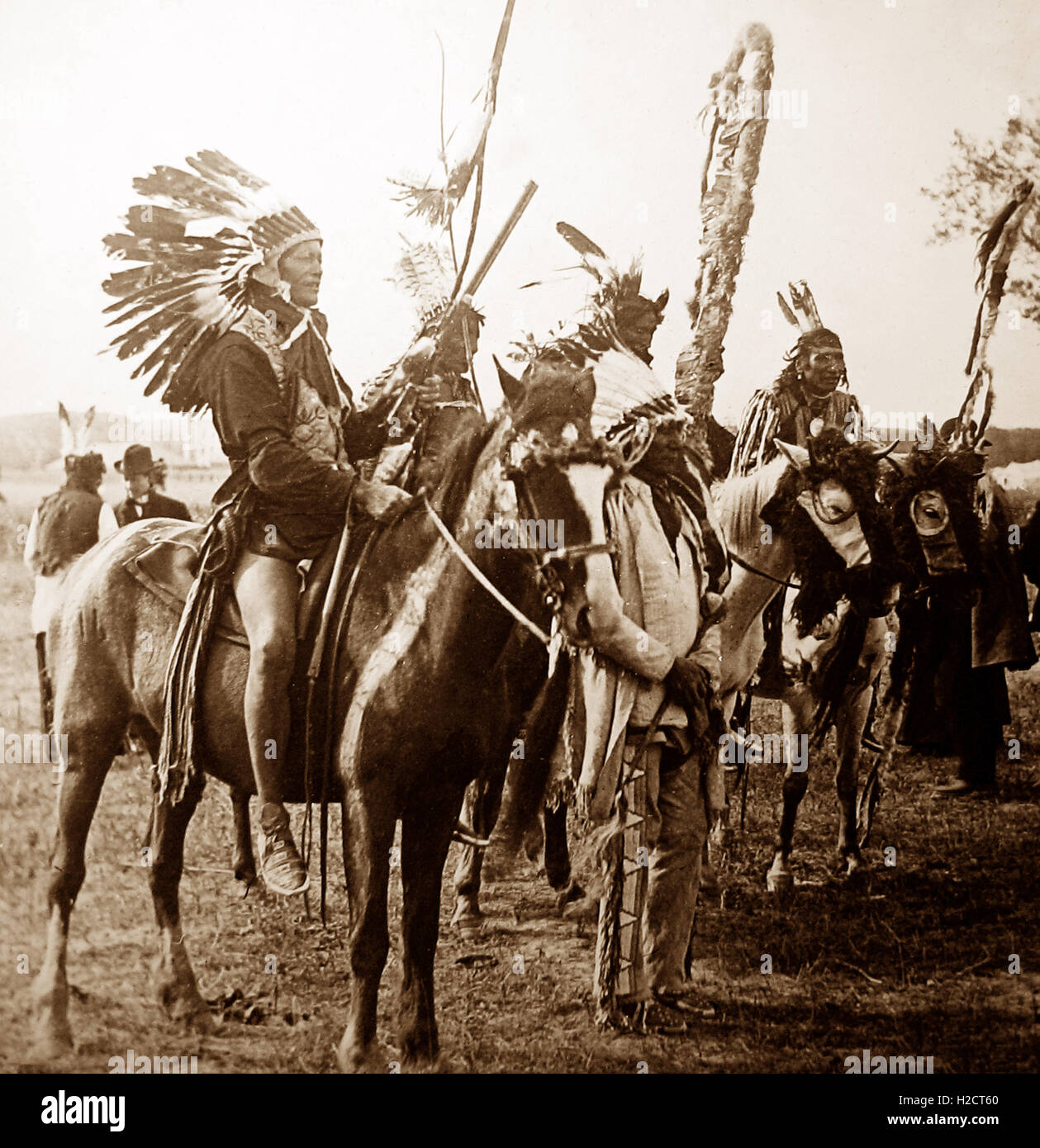 Sioux Indians, Colorado, USA - early 1900s - Stock Image