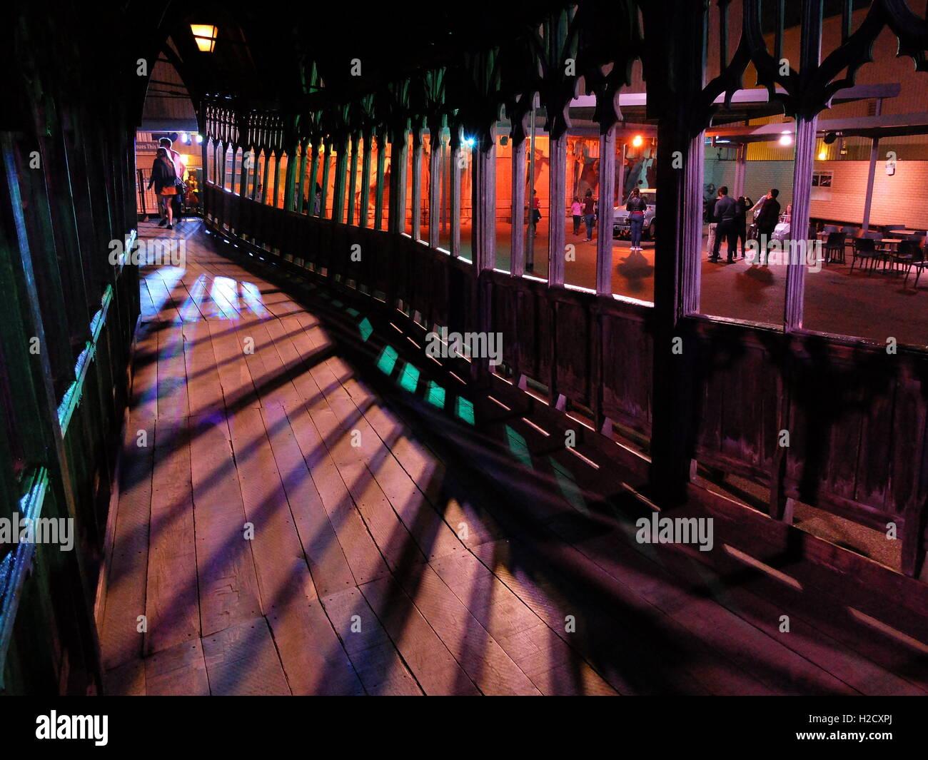 The Making of Harry Potter Warner Bros studio Tour, London. Hogwarts footbridge - Stock Image