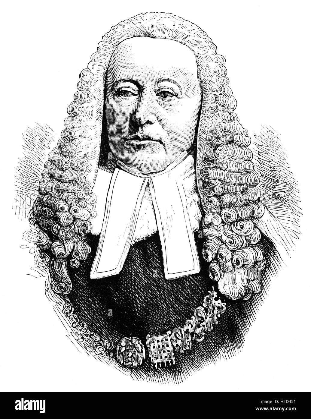 Sir Alexander James Edmund Cockburn (1802 – 1880) was a Scottish jurist and politician who served as the Lord Chief - Stock Image