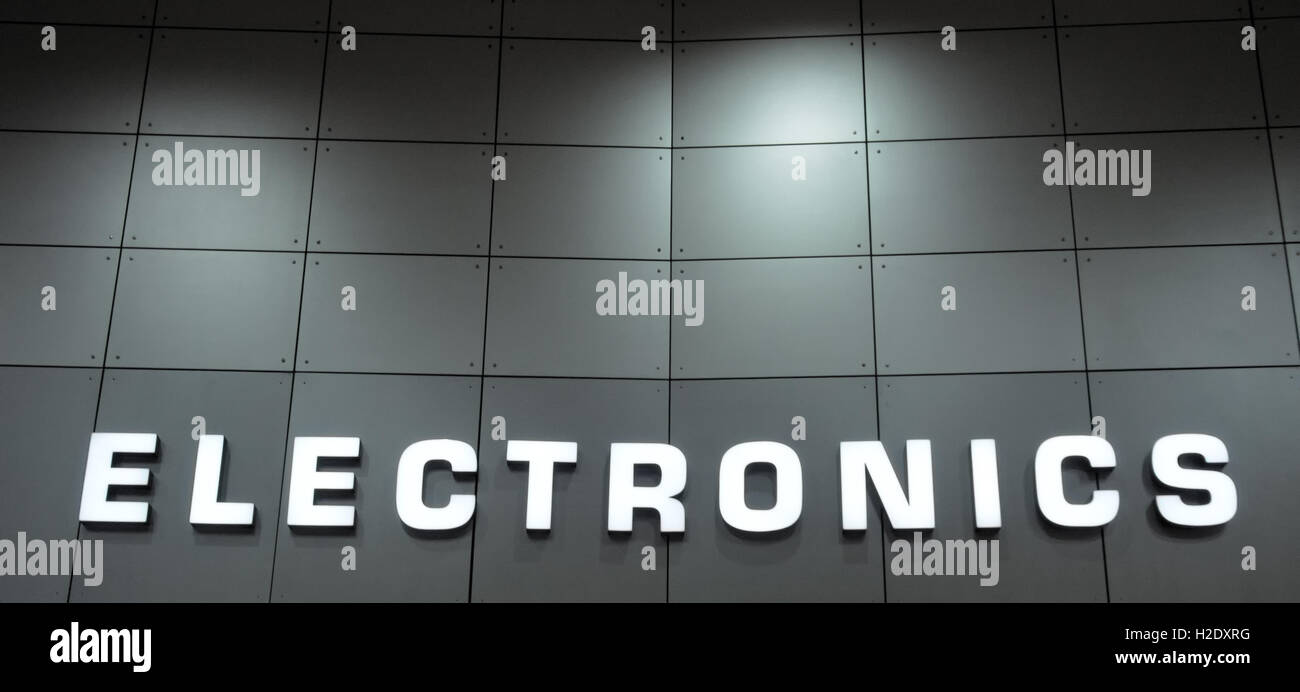 electronics sign - Stock Image