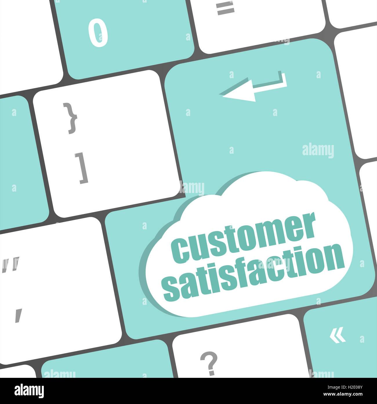 customer satisfaction key word on computer keyboard - Stock Image