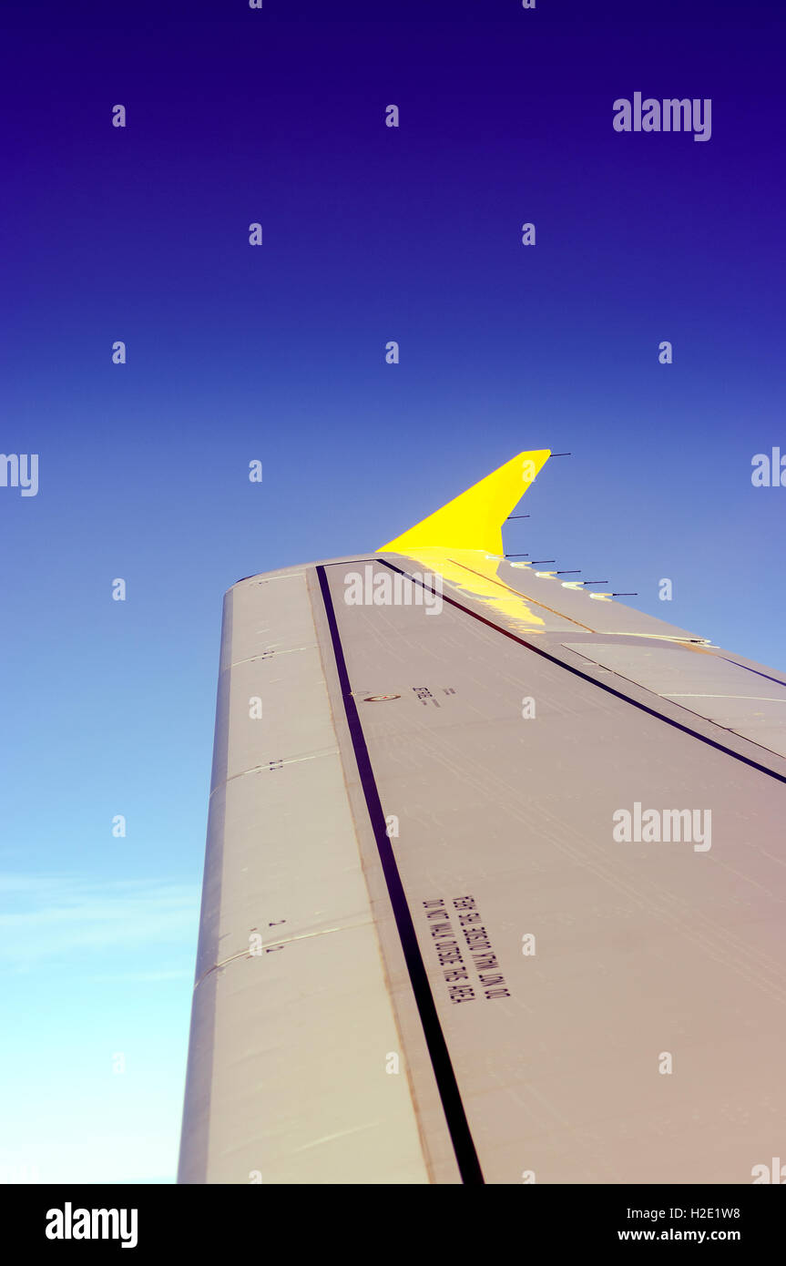 The winglet of an Airbus A320 aircraft - Stock Image