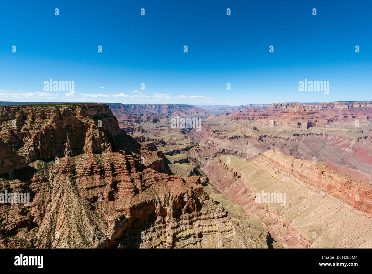 View of canyon landscape, South Rim, Grand Canyon National Park, Arizona, USA - Stock Image