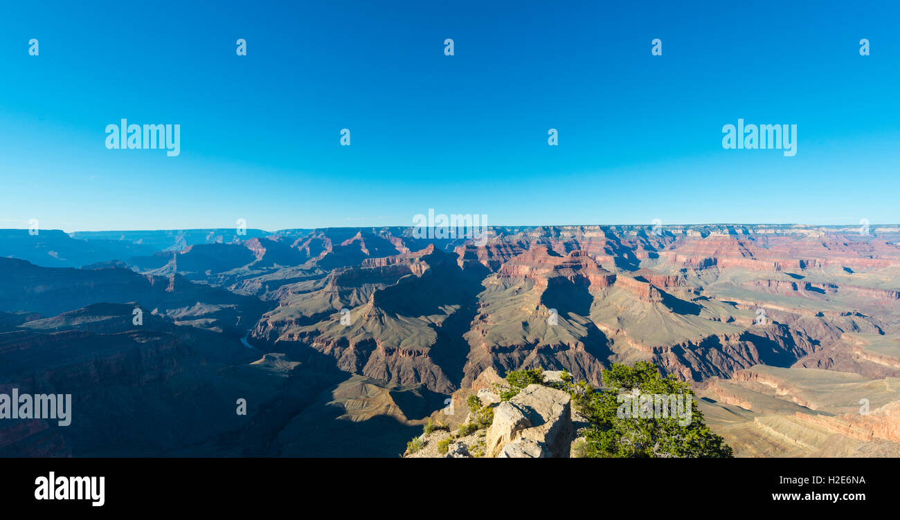 View of Grand Canyon, South Rim, Grand Canyon National Park, Arizona, USA Stock Photo