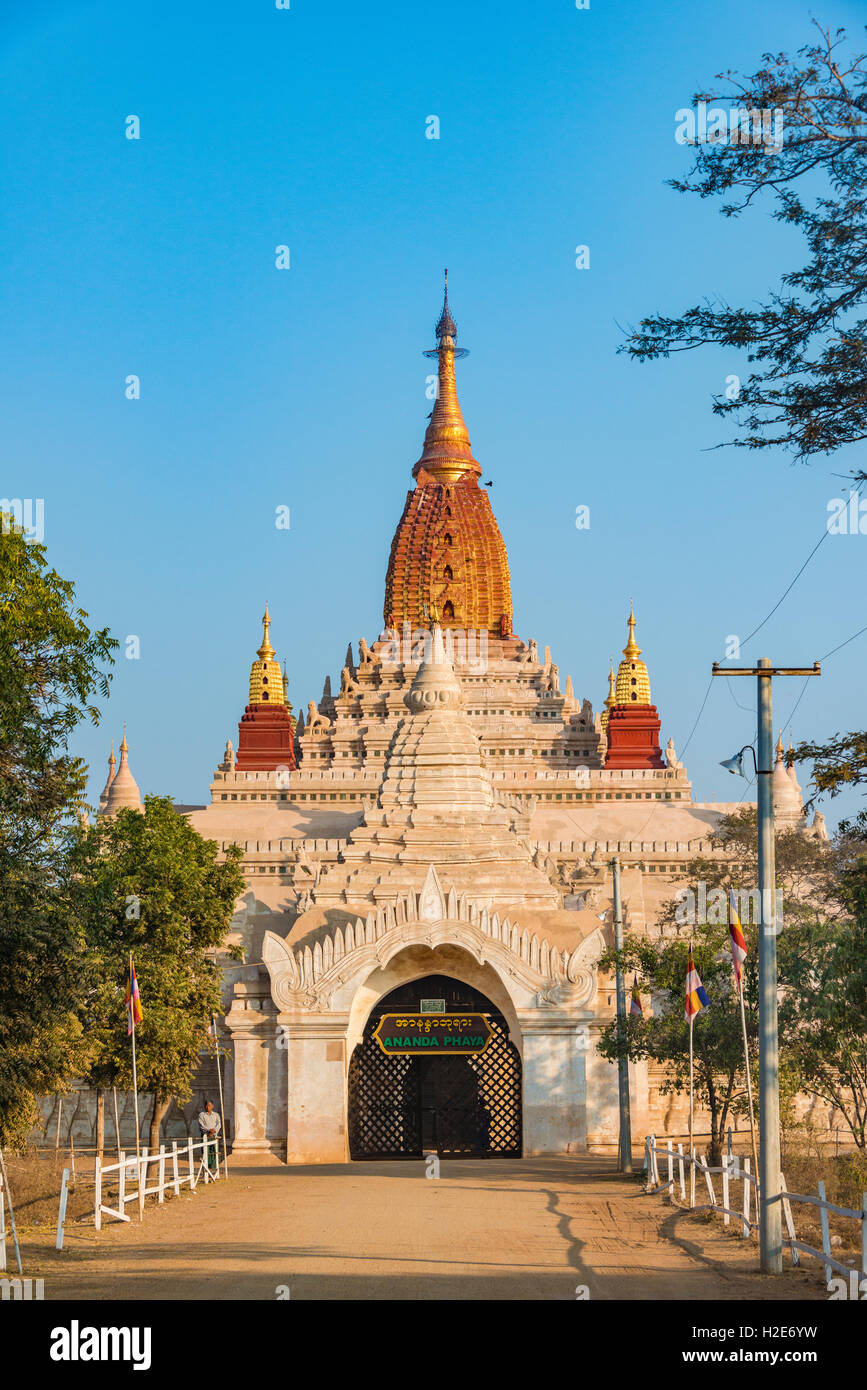 Pahto Ananda, Ananda Temple, Bagan, Myanmar - Stock Image