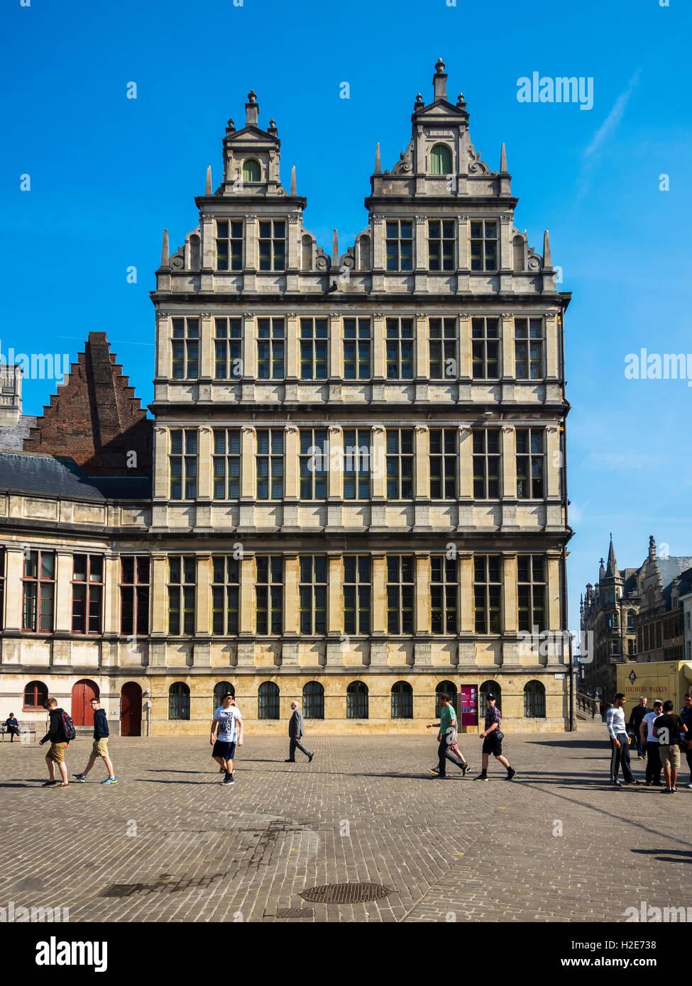 Stadthuis, Town Hall, Ghent, Flanders, Belgium - Stock Image