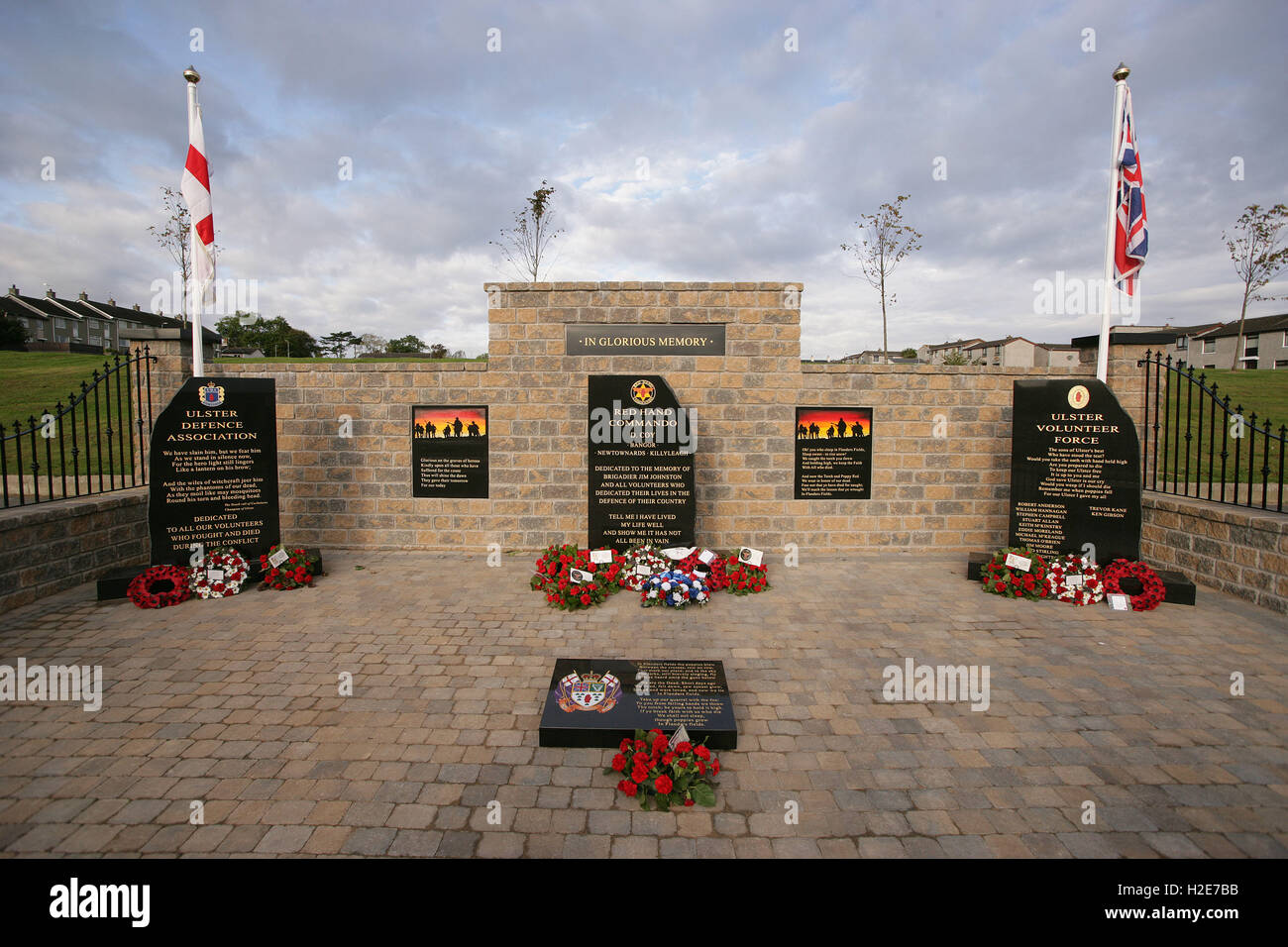 The controversial Garden of Reflection memorial in the Loyalist ...