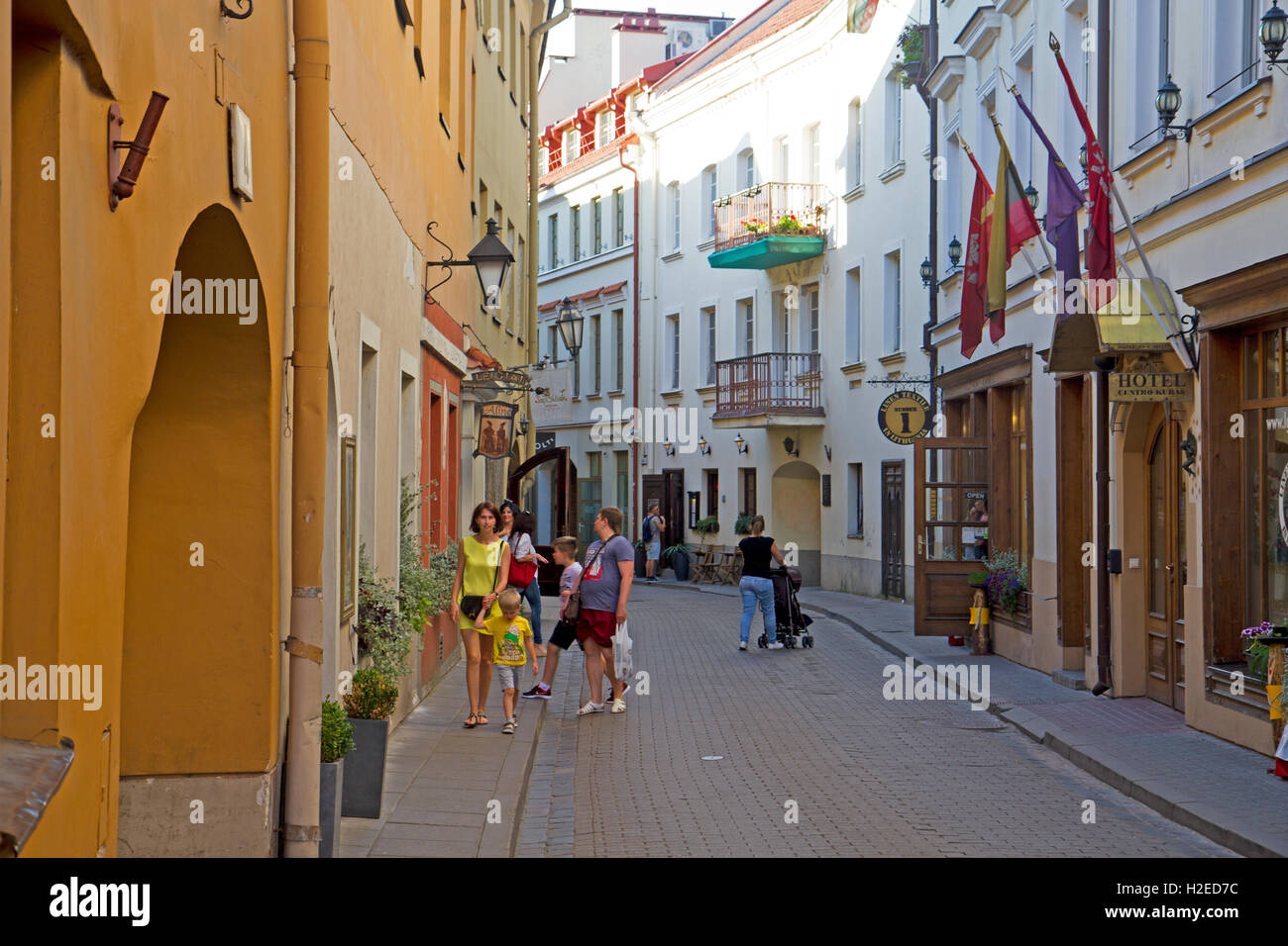 The old town of Vilnius - Stock Image