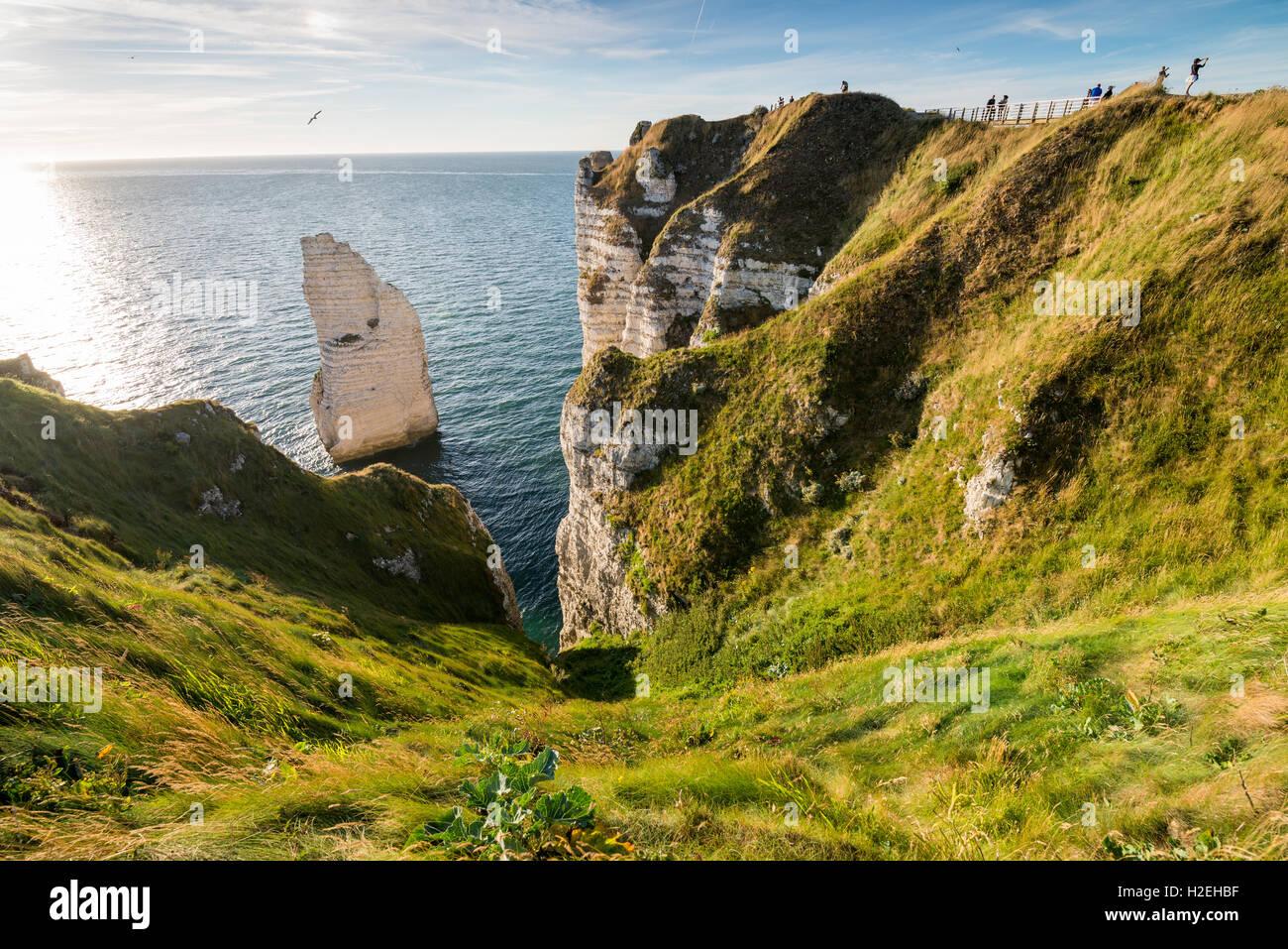 The cliffs of Etretat on the Normandy coast, France, EU, Europe - Stock Image