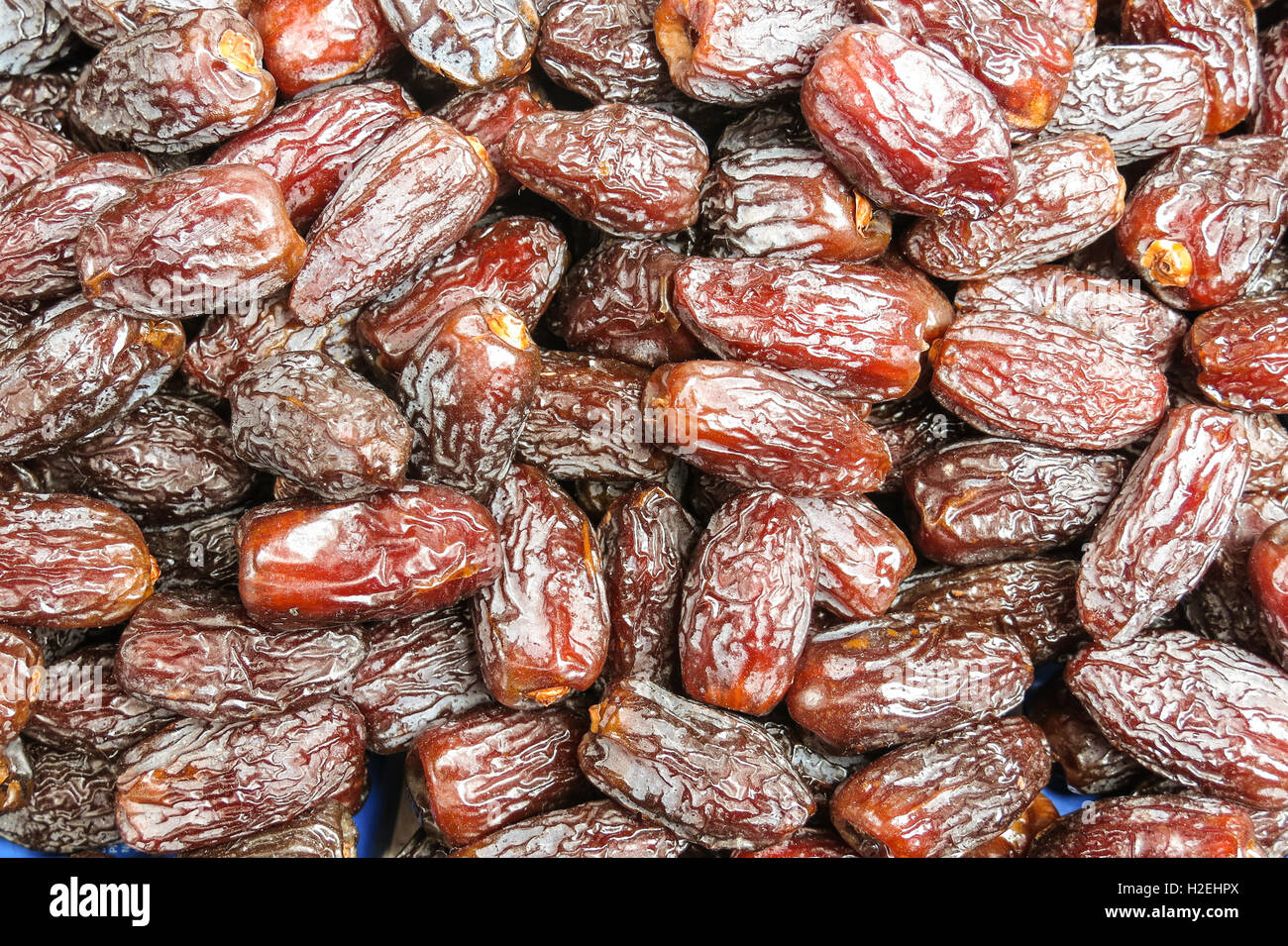 The famous oriental market. Typical dates in Istambul, Turkey - Stock Image