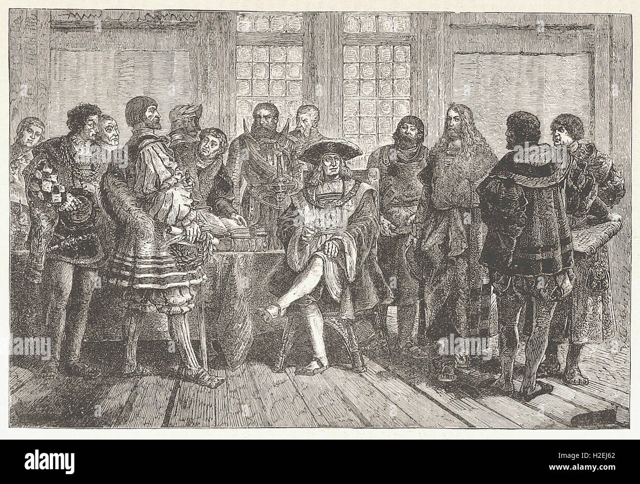 THE EMPEROR MAXIMILIAN SURROUNDED BY THE MOST ILLUSTRIOUS OF HIS CONTEMPORARIES (1503 1519) - from 'Cassell's - Stock Image