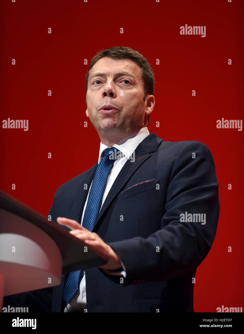 Iain McNicol General Secretary Labour Party     © Della Batchelor/Alamy Live News - Stock Image