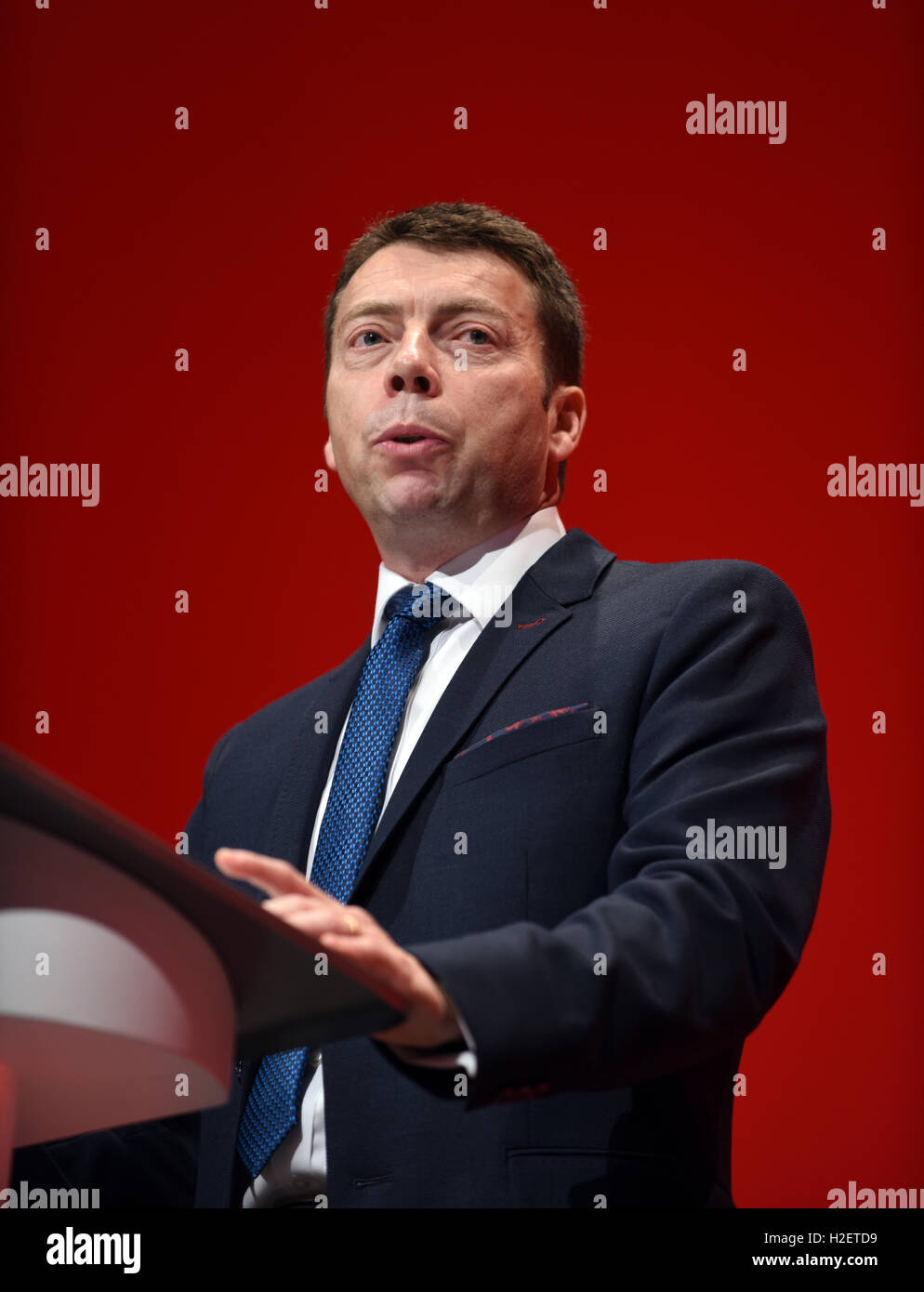 Iain McNicol General Secretary Labour Party speaking at the party's annual conference     © Della Batchelor/Alamy - Stock Image