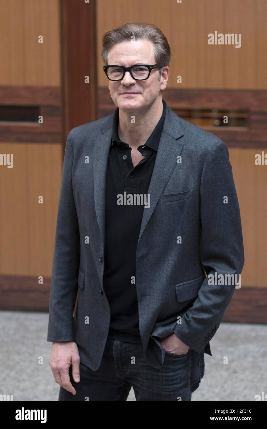 Italy, Rome, 27 October 2016 : British actor Colin Firth attends the photocall of the italian movie 'In bici - Stock Image