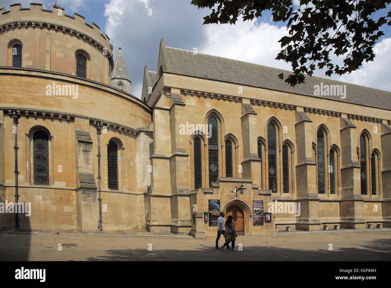 temple church at the middle and inner temple london - Stock Image