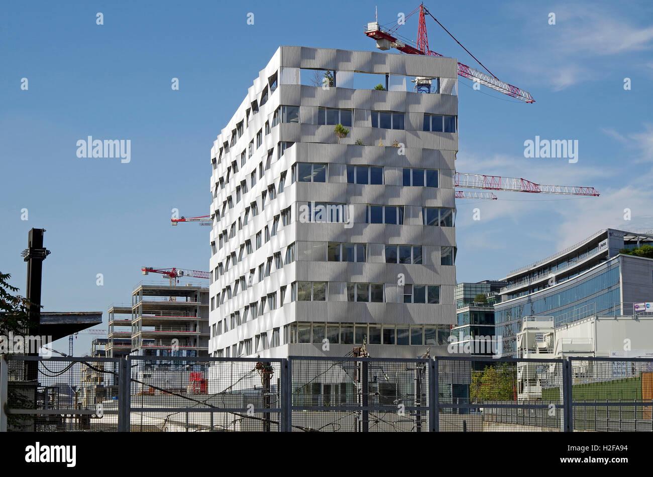 Paris France, Office building under construction - Stock Image