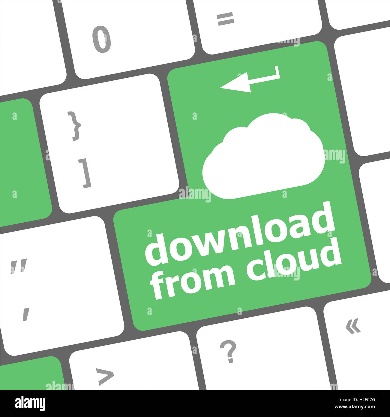 download from cloud, computer keyboard for cloud computing