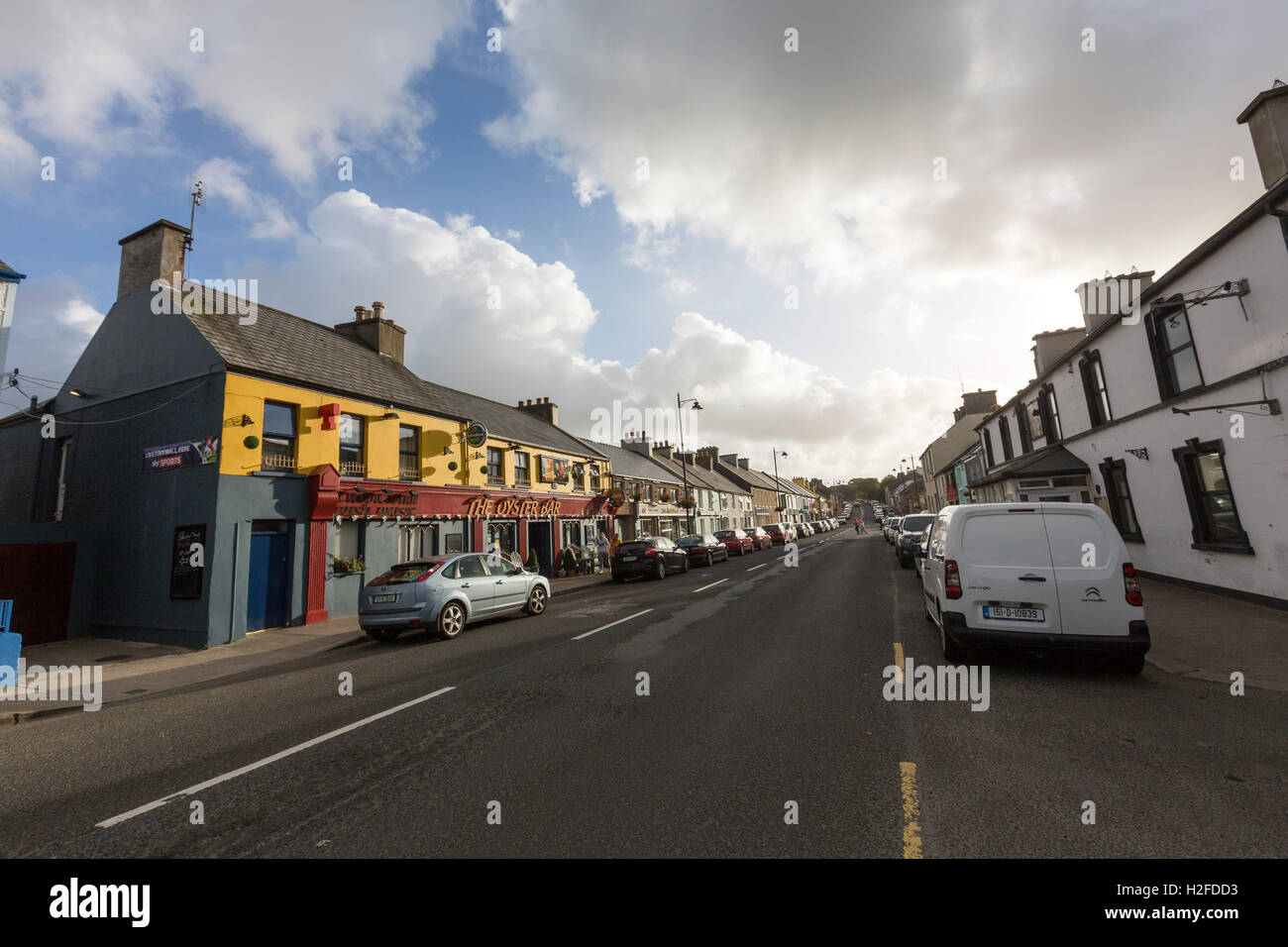 Main Street, Dunfanaghy, County Donegal, Ireland - Stock Image