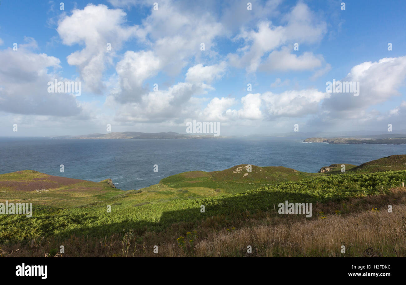 Dunfanaghy Bay from Horn Head in a sunny day, County Donegal, Ireland Stock Photo