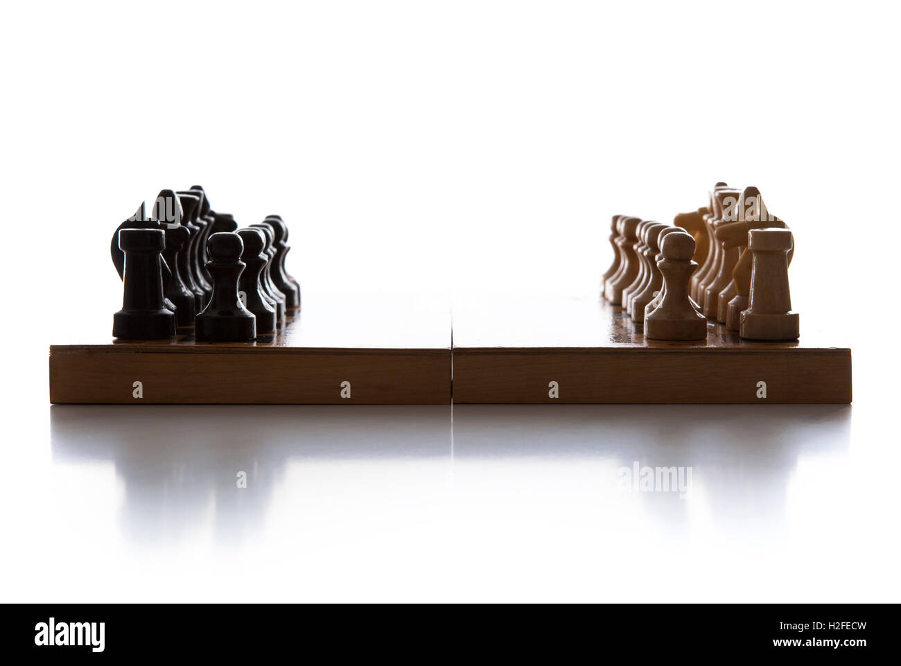 chess pieces on the board - Stock Image