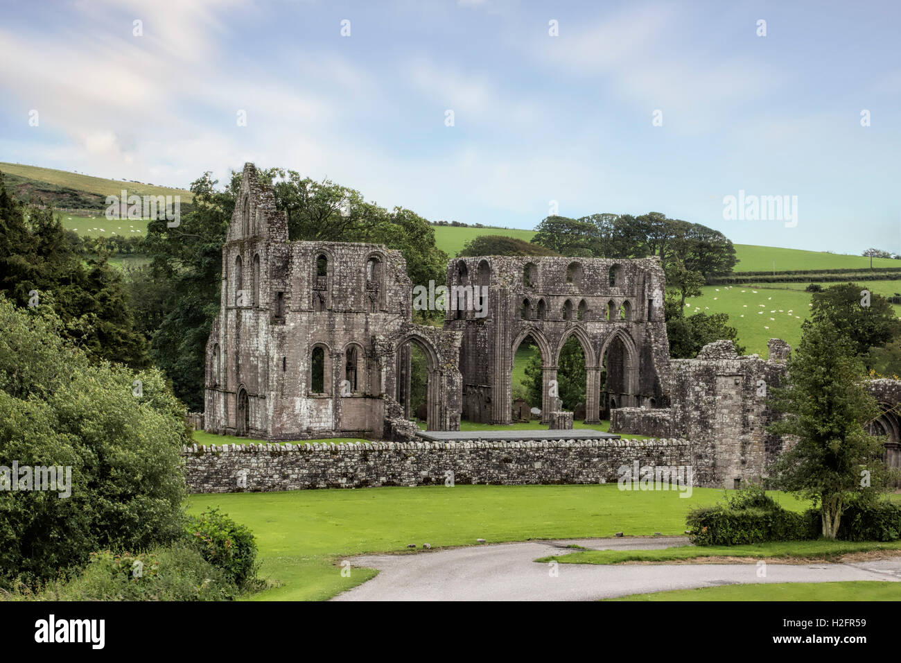 Dundrennan Abbey ruins, near Kirkcudbright, Dumfries and Galloway, Scotland, UK Founded 1142 A former Cistercian - Stock Image