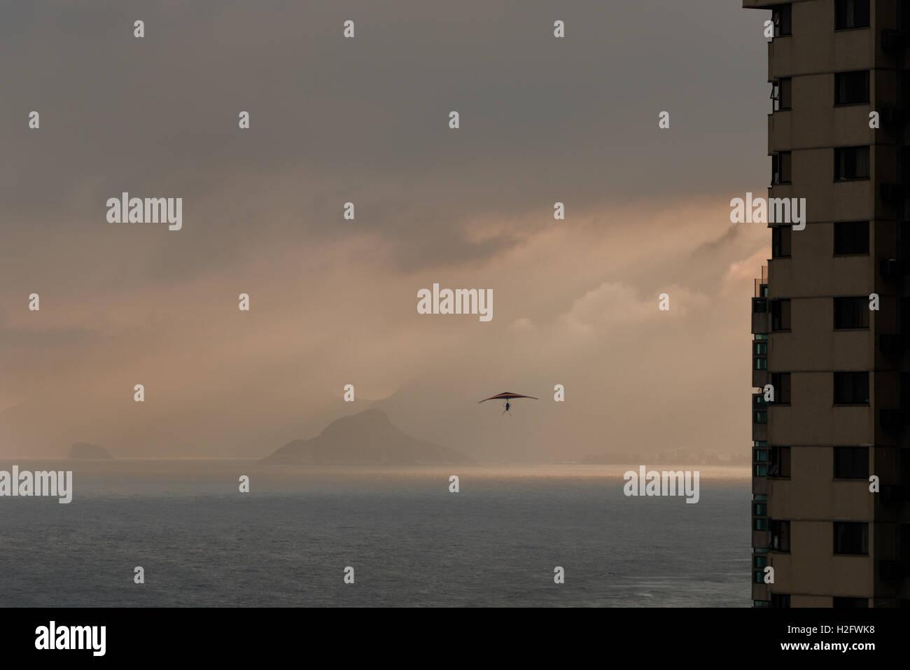 Hang gliding, Rio de Janeiro Brazil - Stock Image